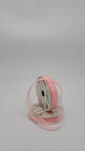 Organza 10mm Woven Edge Ribbon - Pink