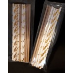 Paper Straws - Gold and Cream