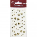 Artoz 3D Sticker Gold Hearts