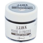 Aladine Izink Embossing Powder - Relief Silver