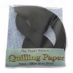 The Paper Palace Quilling Paper - 3mm Black