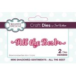 Creative Expressions Dies by Sue Wilson - Mini Shadowed Sentiments - All The Best