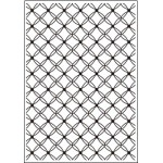 Crafts Too Embossing Folder - Fancy Lattice A4
