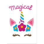 Crafts-Too Diamond Art Card Kits -Unicorn Magical