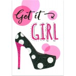Crafts-Too Diamond Art Card Kits - Get it Girl