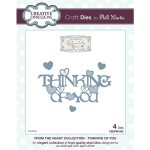 Creative Expressions Dies by Phill Martin - From the Heart Collection - Thinking of You