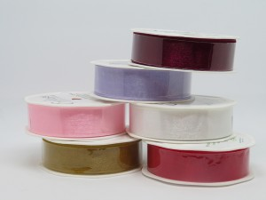 Eleganza 25mm Woven Edge Organza Ribbon