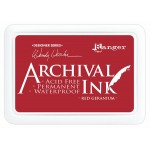 Ranger Archival Ink Pad - Red Geranium