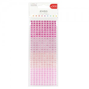 Simply Creative Self-Adhesive Jewels Pink