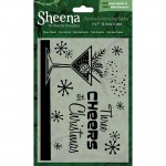 Crafters Companion Sheena Douglass Embossing Folder - Three Cheers