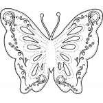Sleek Designs - Small Flourish Butterfly