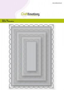 Craft Emotions Nesting Die - Open Rectangle Scalop