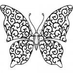Sleek Designs - Small Scroll Butterfly