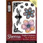 Crafters Companion Stamps - Sheena Douglass Floral Fiesta