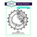 Creative Expressions Pre-Cut Rubber Stamps by Sue Wilson - Finishing Touches Collection -  Elizas Dragonfly Daisy